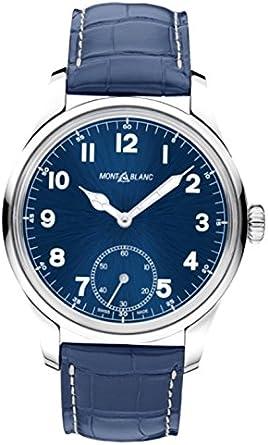 Montblanc Reloj Analógico para Hombre de Cuarzo con Correa en Cuero 113702