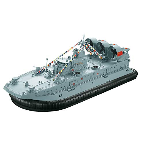 KRCT 1/110 Maßstab Große RC Bison Hovercraft Stark Leistung, PS Brushless Motor High Speed Fernbedienung Speedboat Beruf 2.4G RC Militärschiff Modell mit Akku