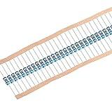uxcell 5色バンド金属皮膜抵抗 アキシャルリード 75K Ohm 0.25W 1%許容差 ブルー 300個入り