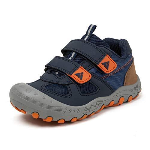 PAMRAY Kinderschuhe Turnschuhe Jungen Mädchen Trekking Wanderschuhe rutschfest Laufschuhe Running Sneaker Sports Blau 28 EU