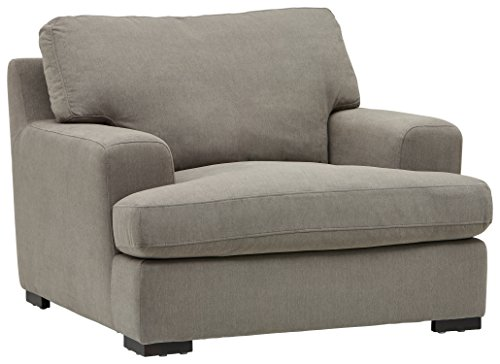 """Stone & Beam Lauren Down-Filled Oversized Living Room Accent Armchair with Hardwood Frame, 46""""W, Slate"""
