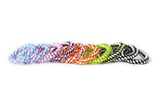 MyBeautyworld24 Haargummi Set bunt 10er Set gemischt (Kunststoff-Spirale), Haarband, Telefonkabel, elastischvon