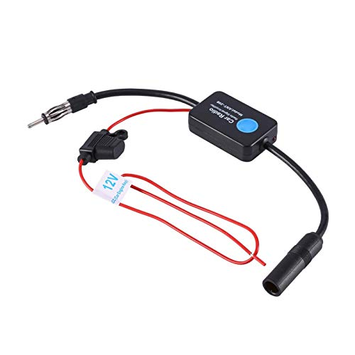 Antena Universal de coche de 12 V, amplificador de señal FM, amplificador de recepción de señal, apto para vehículos marinos, barcos, vehículos recreativos, camiones, vehículos todoterreno