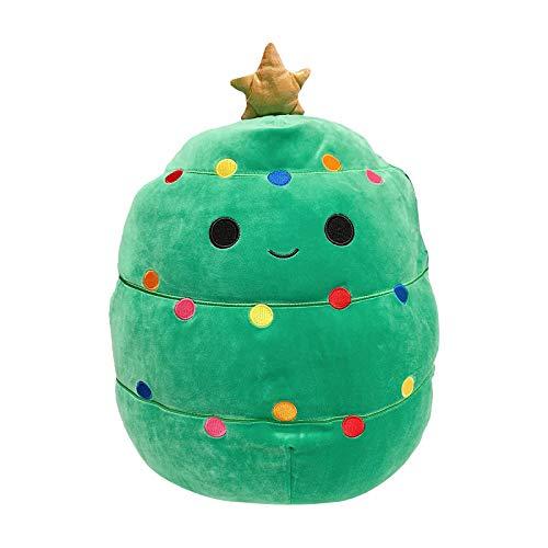 QIMANZI Weihnachten Puppenspielzeug Flauschige Plüschtiere Kuscheltier Plüschtier Spielpuppe Nettes Kuscheltier Weichpuppenplüschgeschenk für Kinder Erwachsene