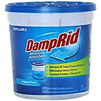 DampRid Fragrance Free Refillable Moisture Absorber, 10.5oz