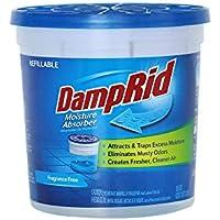 DampRid Fragrance Free Refillable Moisture Absorber, 10.5oz
