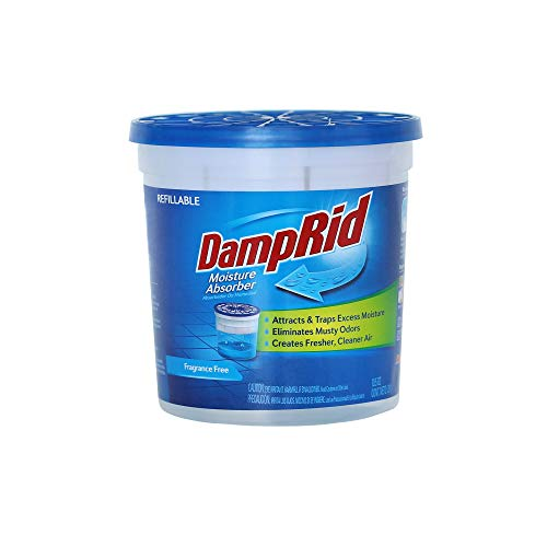 DampRid Fragrance Free Refillable Moisture Absorber - 10.5oz cup – Traps Moisture for Fresher, Cleaner Air
