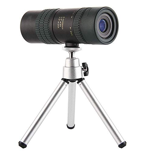 24x30 zoom telescoop, High Definition, Verrekijkers HD Met Tripod Interface Multiayer Broadband Coating BaK4, for de visserij Hiking Bird Watching Marine Black buitenshuis (Kleur: Zwart) ZHANGKANG