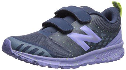 New Balance Girls' Nitrel v3 Hook and Loop Trail Running Shoe, Vintage Indigo/ice Violet, 12 W US Little Kid