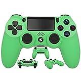 Jnsio Mando Inalámbrico para PS4, Mando Inalámbrico Gamepad de Doble Vibración 6-Axis con Touch Pad y Conector de Audio para Playstation 4 / PS3 / PC