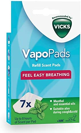 Vicks VapoPads Menthol - 7 Scented pads with essential oils , VH7