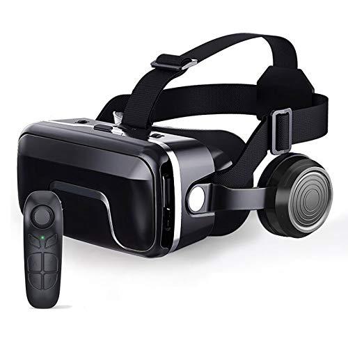 Bias&Belief Gafas VR con Mando A Distancia,Cascos de Realidad Virtual,Soporta Sistema de Ajuste Doble de Distancia Interpupilar y Objeto,para Android y iPhone de 4.7-6.5 Pulgadas,5