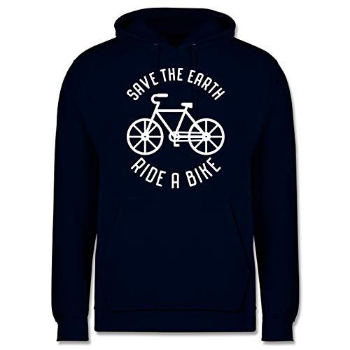 Radsport - Save The Earth - Ride a Bike - XXL - Navy Blau - Geschenk - JH001 - Herren Hoodie und Kapuzenpullover für Männer