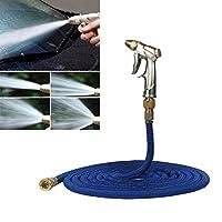 カーウォッシュタオルブラシ 車高圧力洗濯ツール伸縮水パイプセット、長さ:5メートル(ブルー) (Color : Blue)