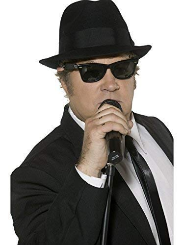 Herren 1970s Blues Brothers Dunkel Schwarz Jazz Tv Film Geheimagent Junggesellenabschied Nacht Kostüm Verkleidung Zubehör Brillen