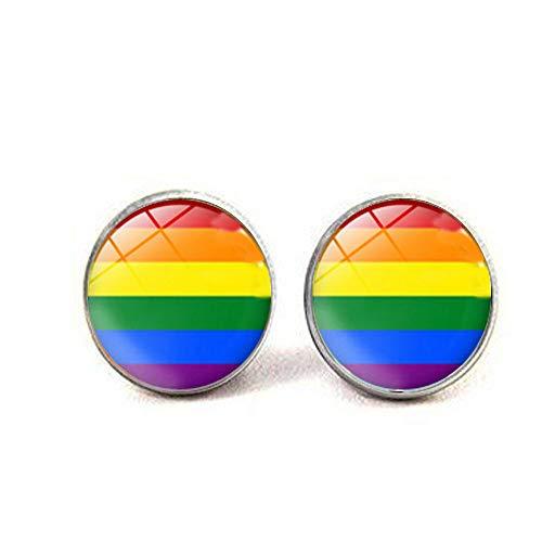 LGBT Gay Pride Pride Manschettenknöpfe Gay Pride Schmuck Kunst Foto Schmuck handgefertigt Schmuck