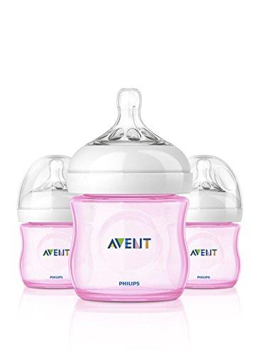 Philips AVENT Natural Bottle Set 3PK - 4oz (Girl)