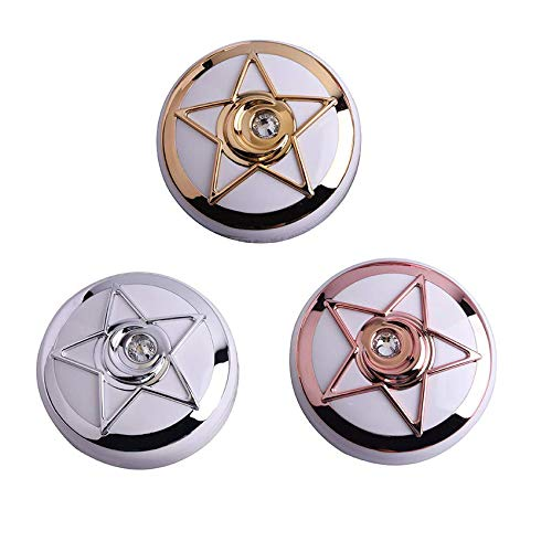 Chris.W 3Pcs Cute Contact Lens Case Travel Portable Contact Lenses Box Container Star Lens Holder with Mirror (Rose Gold/Gold/Silver)