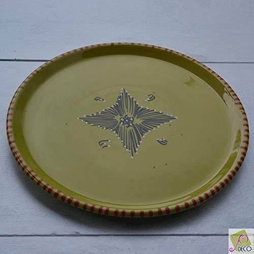 Plat à tarte Tatoué Vert