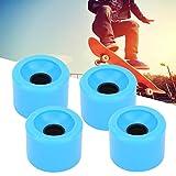 4PCS / Set Skateboard Steering Rueda Antideslizante y silenciosa para Skateboard Pennyboard Waveboard para Adolescentes, Adultos, Principiantes, niñas, niños, niños(Blue)
