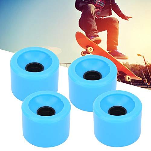 4PCS/Set Skateboard Lenkung Rutschfestes und geräuschloses Rad für Skateboard Pennyboard Waveboard für Jugendliche Erwachsene Anfänger Mädchen Jungen Kinder(Blue)