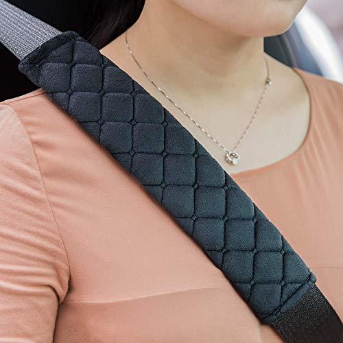 Premium Auto Gurtpolster im Zweierpack,Polsterung für Sitzgurt im Auto,Damit Sie und Ihre Familie eine entspannte Reise haben - auch für Kinder geeignet (Schwarz)