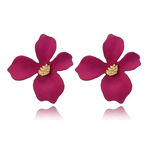 Oorbellen accessoires oorsieraden modesieraden schilderij bloemen stud oorbellen voor vrouwen snoep Brincos met onregelmatige bloemblaadjes cadeau