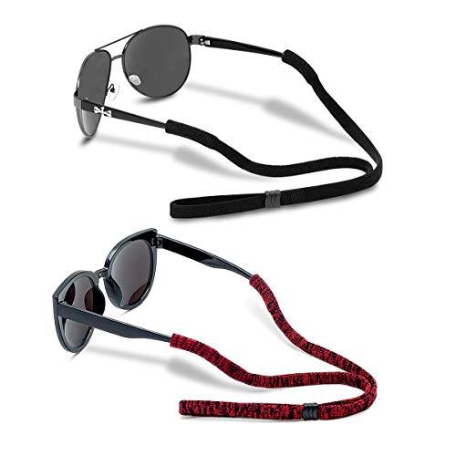 Men's Eyeglass Chains, Adjustable Glasses Straps, Sports Unisex Sunglass Retainer Holder Strap(2Pcs)