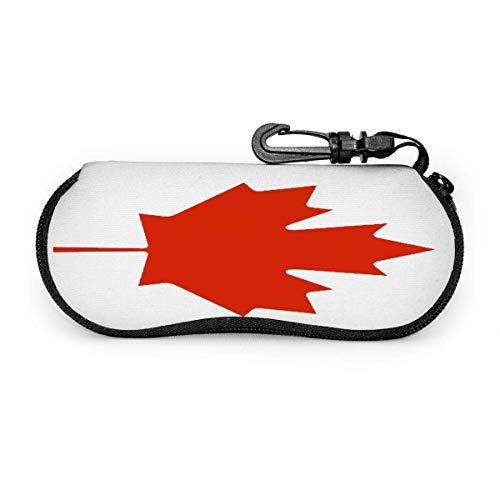 SDFGJ Estuche para anteojos Estuche para anteojos con bandera de Canadá Estuche para gafas de sol de viaje portátil resistente a los arañazos Soporte para gafas ligeras con almeja Soporte para concha