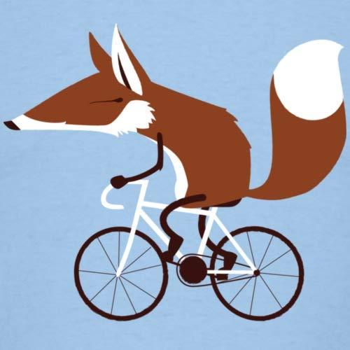 Spreadshirt Fuchs Auf Fahrrad Cycling Fox Männer T-Shirt, L, Sky - 2