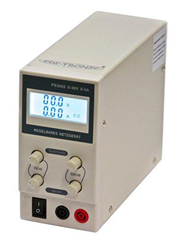 edi-tronic Regelbares DC Labornetzgerät 0-30V 0-5A PS3005 Labornetzteil Netzgerät regelbar Netzteil