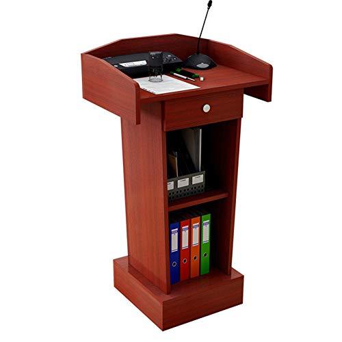 TnSok Stehendes Podium Floor-Lektoren Podium Steady Stabing Design Lehrer-Lautsprecher-Vortrag Klassenzimmer-Präsentationsstand (Color : Red, Size : 60x40x110cm)