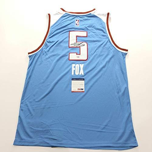 De'Aaron Fox Signed Jersey PSA/DNA Sacramento Kings Autographed - Autographed NBA Jerseys