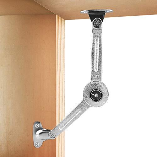 2 Stück Klappenbeschlag Klappenstütze Klappenhalter, Klappdeckel der Schrankstütze, Hub-Stütz-Puffer-Scharnier, verstellbarer Deckel-Stützscharnier für Schrank/Schrank/Schranktür mit Soft-Close