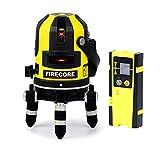 【改良版】Firecore 5ライン レーザー墨出し器 FIR411R 高輝度 回転レーザー線 レーザーレベル メーカー1年保証【受光器セット】