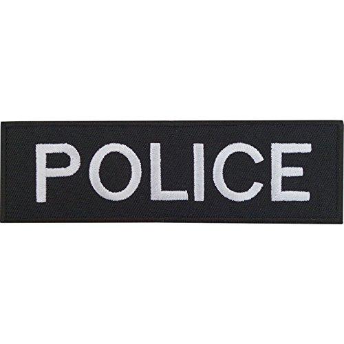 Disfraz de oficial de policía parche bordado Sew de hierro en insignia policía