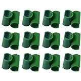 Hemoton 50 Piezas Jardín Enrejado Planta Conector Plástico Varilla Conector Estaca Clip Jardín Escalada Accesorios para Verduras Valla (Verde 8Mm)