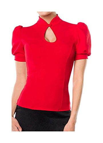 Belsira dames jersey-blouse in retrostijl