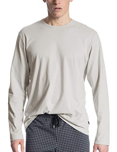 CALIDA Herren Remix Basic Langarmshirt, Grau (Fog 850), 52/54
