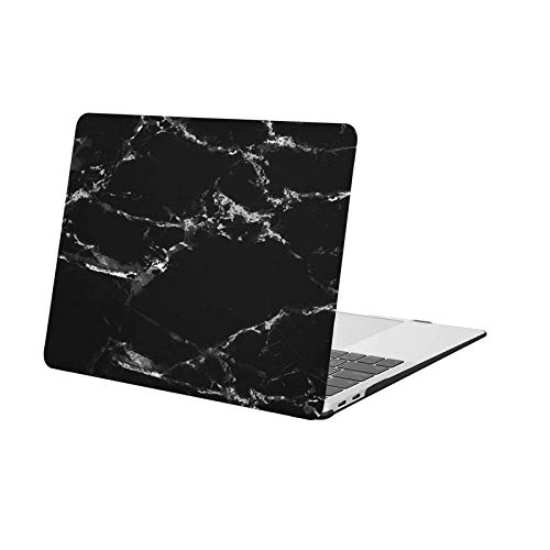MOSISO MacBook Air 13 Inch Case 2020 2019 2018 Release A2337 M1 A2179 A1932, Plastic Pattern Hard Case Shell Only Compatible with MacBook Air 13 inch with Retina Display, Black Marble