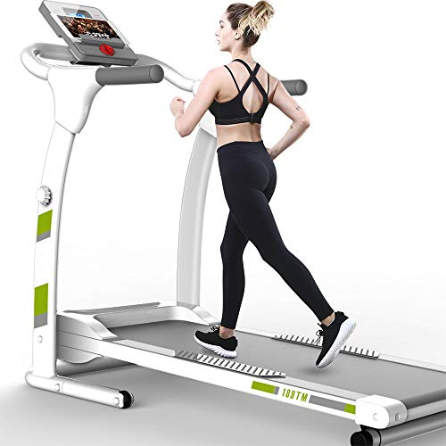 DearSnow Cinta de Correr Plegable, Equipo de Ejercicio de Entrenamiento Cardiovascular, Máquina de Correr para Caminar y Trotar eléctrica para el hogar