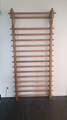 ARTIMEX Espaldera de Roble, Modelo Rustico, para Fisioterapia y Gimnasia - usada en hogares, gimnasios, clínicas, escuelas o centros de Fitness - 240x90 cm, código 279-R