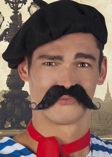 Moustache Déguisement Noir Recourbé Accessoire Fantaisie Homme Français