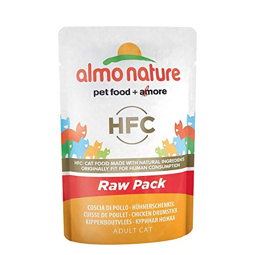 ALMO NATURE Envolvente del muslo de pollo crudo Gato mojado alimento premium
