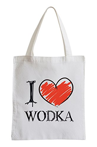 I Love Wodka Shirts Fun Jutebeutel