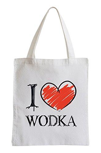I Love Wodka Shirts Fun Jutebeutel