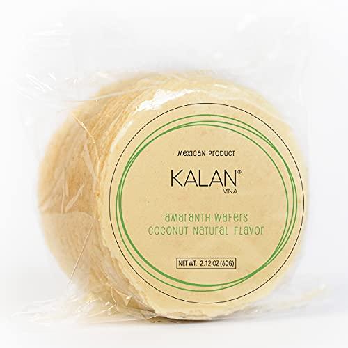 Kalan Obleas Mexican Snack - Healthy Snacks - Vegan Amaranth Flour Wafers No Sugar Added (Coconut, 6 pack)