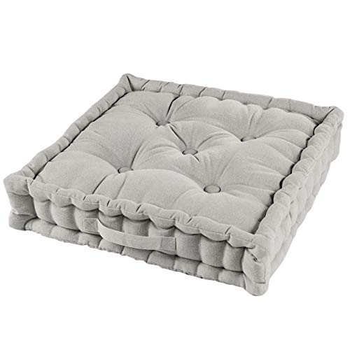 Douceur d'intérieur - Cuscino da pavimento, 45 x 45 x 10 cm, per relax, colore: lino, Codice dell'Articolo: 1730801