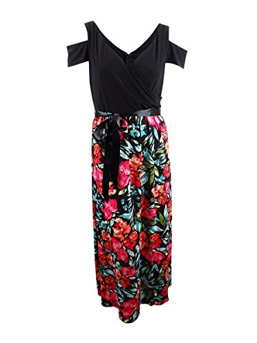 SL 패션 여성의 콜드 어깨 맥시 드레스