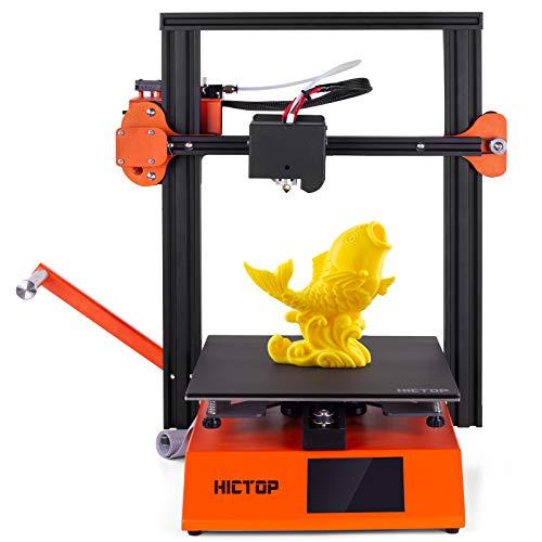 Stampante 3D HICTOP S250 con scheda madre a 32 bit TMC 2208 aziona entrambi i lati letto in vetro rivestito Dimensioni di stampa 235 * 235 * 250 mm